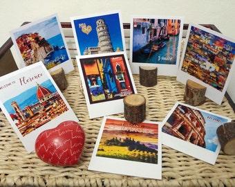 Polaroid prints of Italy, vintage style photos, polaroid travel set, Italy art prints, Italian landscape, vintage postcards from Italy