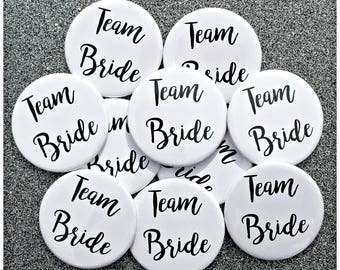 Team Bride Badge. Hen Party. Bachelorette Party. Wedding. Bride to Be. Hen Do. Bridal Shower. Button Badge. Pin. Marriage. Luxe. Bride Tribe