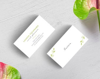 Air: Elegant Business or Calling Card for Wedding Planner,Jewelry Maker, Photographer,Boutique,Spa Nail Skin care,Wedding Planner,Advisor