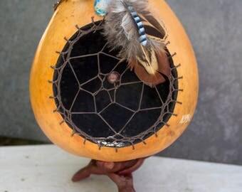 """Gourd dreamcatcher decorated pluck """"Chogan"""""""