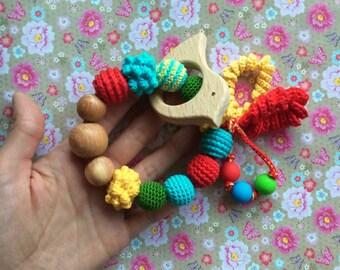 Birdie teether rattle