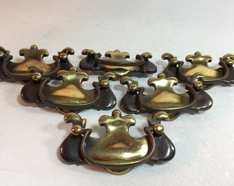 Antique Brass Drawer Pulls Set of 6