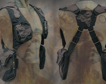 Blaster shoulder Holster bag ~ post apocalyptic steampunk neo tribal