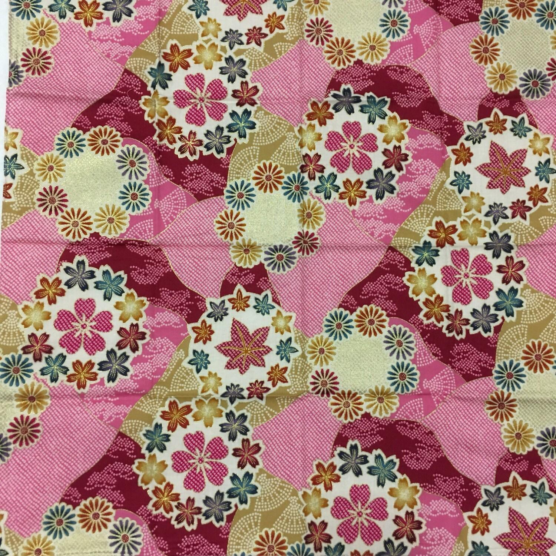 Furoshiki pink sakura japanese furoshiki by smithjackjapan for Japanese wrapping