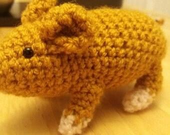 Custom amigurumi crocheted hamster