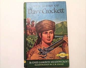 Vintage Children's Book The Story of Davy Crockett Signature Biography Series 1952 Hardcover