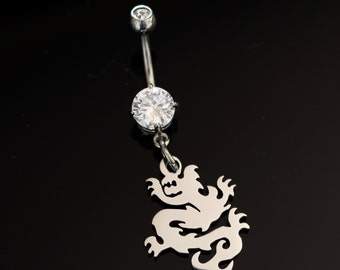 Dragon Belly Ring, Body Piercing, Navel Jewelry, Body Jewelry, Dragon Navel Ring, Dragon Body Jewelry, Belly Ring Dragon, Bodykandie, Dragon