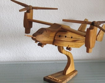 Osprey Bell-Boeing Aircraft with stand HANDMADE NEW wood