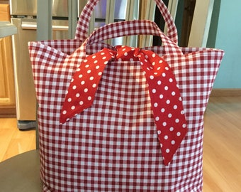 Tie Top Everything Tote