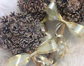 Set of 3 Rose Gold Pine Cone Bouquets