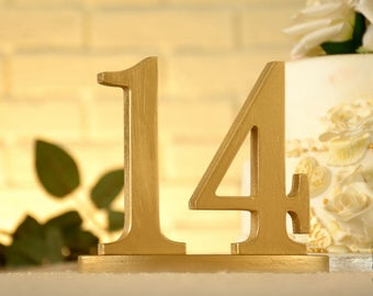 Wood Table Numbers for Weddings and Events- Wedding Table Numbers- Gold Table Numbers- Table Numbers Wedding