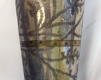 Vintage North Indian Brass & Silver Lassi Cup -- New Arrival!