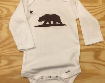 California Bear Long Sleeve Onesie (6-9mos)