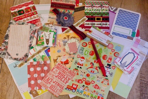 Christmas Planner Kit, Weekly Or Monthly Layout, Washi Tape