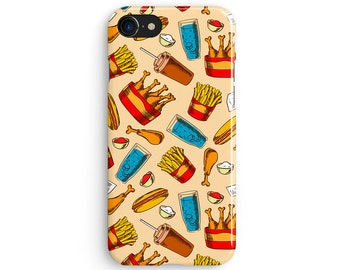 Fast food chicken drumsticks - iPhone 7 case, Samsung galaxy S8 case iPhone 6 iphone 7 plus samsung galaxy S7 iphone SE 1P145A
