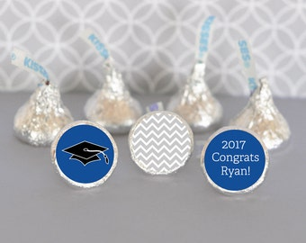 Hershey Kiss Labels-Graduation Favors-Stickers for Candy Kisses-Personalized Hershey Kiss Favor Labels (set of 108)