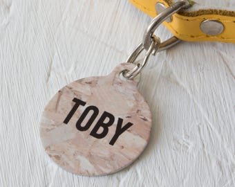 Personalised Ply Wood Pet ID Tag  - Dog Name Identification