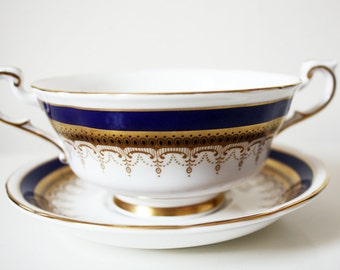 Paragon 'Stirling' Soup Porcelain Cup Bowl and Saucer (4 available)