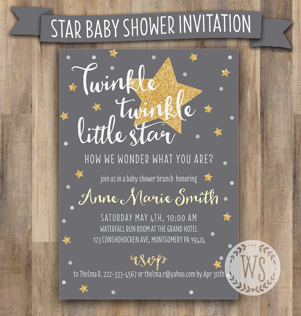 It is an image of Dynamite Free Printable Twinkle Twinkle Little Star Baby Shower Invitations