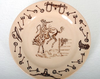 "Tepco China Western Traveler ""Bronc"" Bread Plate"
