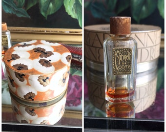 1920's French Coty Perfume Bottle and Powder Box