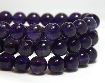 6mm Amethyst, Full Strand, 6mm Amethyst Beads, 6mm Purple Beads, Amethyst Beads, Purple Beads, Amethyst Gemstones,  6mm Gemstones,  B-17A