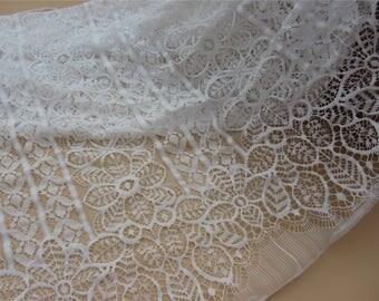 Cotton and nylon lace ,leaf lace fabric,Eyelash lace fabric White wedding Lace /  1.5m*1.5m white Wedding Lace Fabric,cotton  lace fabric