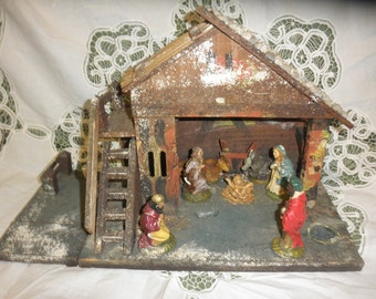 Nativity Stable Handmade in 1960