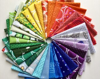 Fat 8th Rainbow Bundle of Lizzy House Fabrics (32 in total)