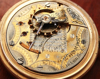 Amazing American Seth Thomas Gold Filled 17 Jewel Pocket Watch
