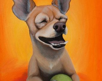 "20"" x 20"" Captivating Custom Pet Portrait | Hand-Painted on Canvas"