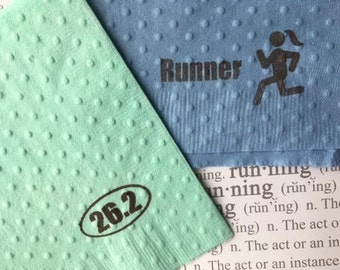 Paper Napkins - Running Theme - Runner Girl - Running Party - Color Run - Rock and Roll Marathon - Distance Running - Sport Theme - Marathon
