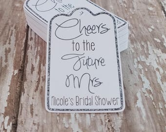 Cheers to the Future Mrs, Bridal Shower Tags, Bachelorette Party Tags, Bachelorette Party, Wedding Shower (172)