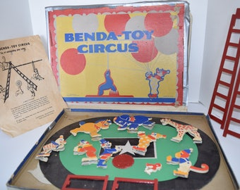 "Vintage 1940's Benda-Toys ""Benda Toy Circus"" Playset"