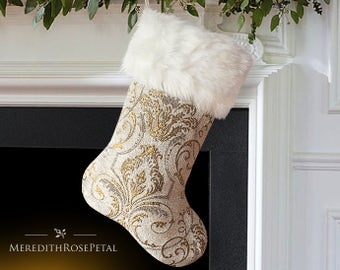 Elegant Christmas, Elegant Christmas Stocking, French Christmas, French Christmas Stocking, Luxury Christmas, Luxury Christmas Stocking