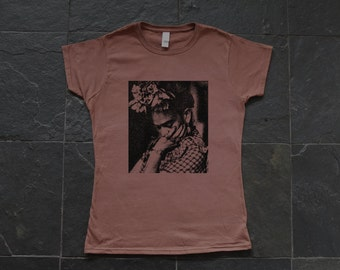 Frida Kahlo - screen printed female T-shirt