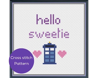 Hello Sweetie Cross Stitch Pattern