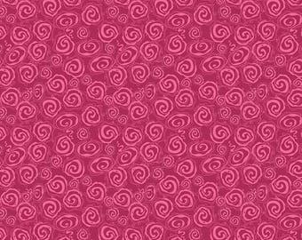 Fantine Berry Swirl by Lila Tueller for Riley Blake, Raspberry Swirl,Fuchsia Fabric
