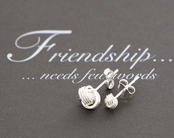 Friendship Knot Earrings-Sterling Silver earrings-Friendship Gift