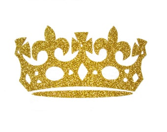 Crown iron on appliqué