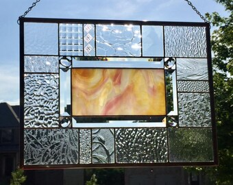 Jeweled Shower of Springtime - Stained Glass Panel *** Ready to Ship ***