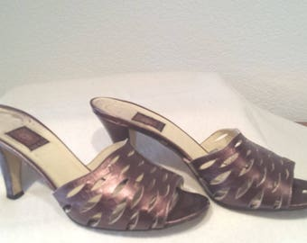 Vintage Ann Klein Leather Pumps 1980's 7.5 ~Lovely