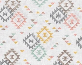 Southwest Blanket - Ecru 173-1 by Lewis & Irene Fabrics Cotton Fabric Yardage