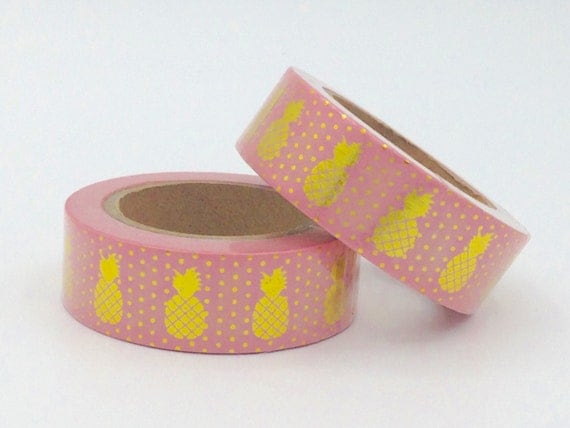 10m washi tape light pink and gold foil decorative aloadofball Image collections