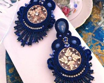 Soutache Earrings, Handmade Earrings, Soutache Jewelry, Handmade from Italy (spedizione in Italia già inclusa nel prezzo!)