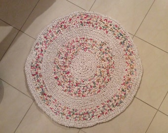 Hand made rag rug ,carpet