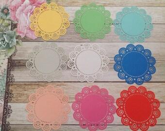 Mini paper doilies, coloured doilies, 15 paper doilies, paper doilies, 2.5 inch doilies