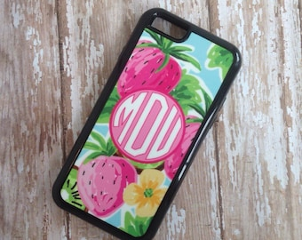 Monogram iPhone 6 case, Monogram iPhone 5 case, Monogram iPhone 5s case, Galaxy S6 Case, Tracey Gurley Preppy Monogrammed Gifts FCM-198