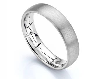 Your Actual Heartbeat Engraved Wedding Ring