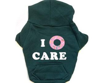 I Donut Care 1 Small Dog Hoodie American Apparel w/ Zipper Flex Fleece
